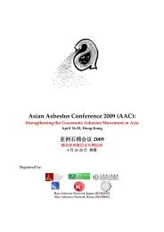 Asian Asbestos Conference 2009 (AAC)
