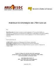 Portrait économique de l'Outaouais - SADC de Papineau