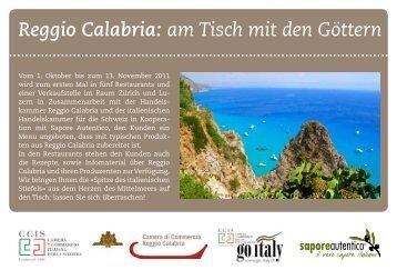 Reggio Calabria: am Tisch mit den Göttern