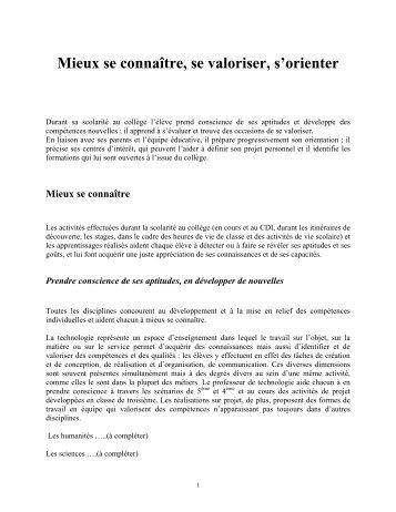 Voir texte intégral orientation collège - Assetec