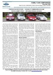 FAMILY CAR COMPARISON - Australian Automobile Association