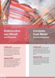 Elektrorohre aus Metall Conduits from Metal - Dietzel Univolt