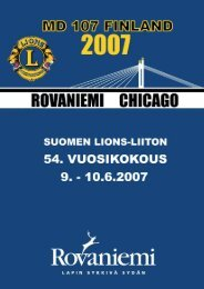 Vuosikokouslehti - Suomen Lions-liitto ry