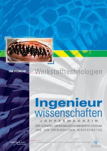 Jahresmagazin Ingenieurwissenschaften - Projektträger Jülich