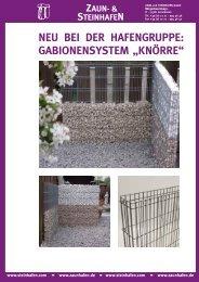 """gabionensystem """"knörre"""" - und Steinhafen GmbH"""