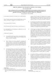 Directiva 2009/81/CE del Parlamento Europeo y del Consejo, de 13 ...