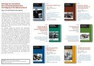 Übersichtsflyer 2009, Beiträge zur Geschichte der ...