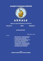 Volume 3 nr 1 / 2011 - Academia Oamenilor de Stiinta din Romania