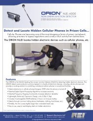 Detect and Locate Hidden Cellular Phones in Prison Cells