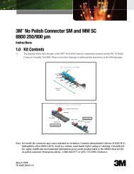 3M™ No Polish Connector SM and MM SC 8800 250/900 µm