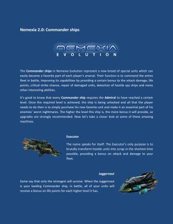 Nemexia 2.0: Commander ships