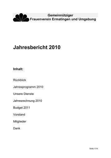 Frauenverein Ermatingen und Umgebung - TGF Gemeinnütziger ...