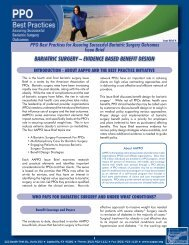 Bariatric Surgery – evidence BaSed Benefit deSign - Aappo