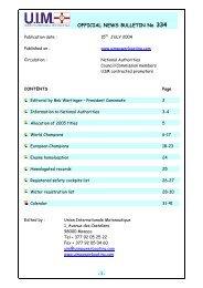 Bulletin 334 / 2004 - UIM
