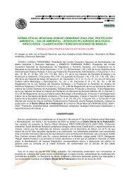 norma oficial mexicana nom-087-semarnat-ssa1-2002, protección ...