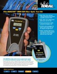 Ideal 33-931 FiberMASTER Fiber Optic Test Kit ... - Netzerotools.com