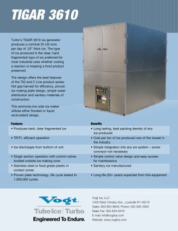 TIGAR 3610.pdf - Vogt Tube Ice