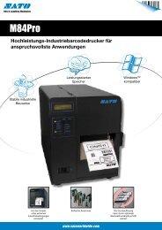 Download Datenblatt SATO M 84 PRO - AJK Etiketten