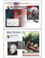 Ch27: Einstein's Universe: Relativity