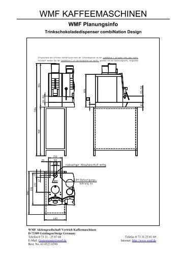Chocdispenser combiNation F - WMF Kaffeemaschinen