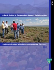 BLM Desk Guide to Cooperating Agency Relationships - National ...