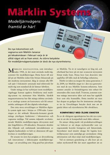 Folder om Märklin Systems, del 1 - FV Elektro AB