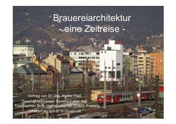 Brauereiarchitektur - Technisches Büro Weihenstephan
