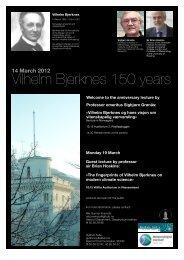 Vilhelm Bjerknes 150 years