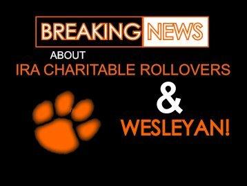 BREAKING NEWS WESLEYAN! - West Virginia Wesleyan College