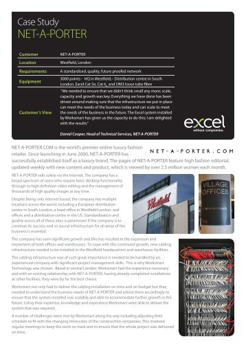 Excel Case Study - NET-A-PORTER - Excel-Networking