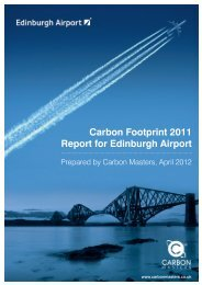 Carbon Footprint 011 Report for Edinburgh Airport