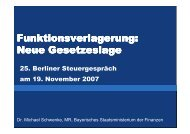 Präsentation MinR Dr. Michael Schwenke (PDF) - Berliner ...