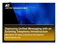 Deploying Unified Messaging with an Evolving ... - UCStrategies.com