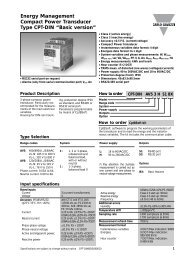 Energy Management Compact Power Transducer Type CPT-DIN ...