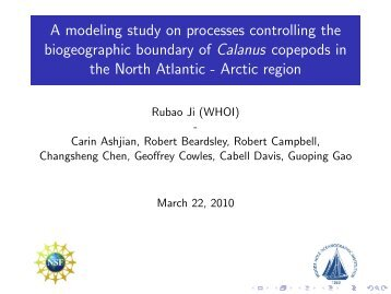 A modeling study on processes controlling the ... - rargom