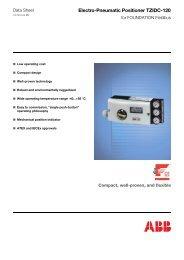 Electro-Pneumatic Positioner TZIDC-120 - Klinger Danmark A/S