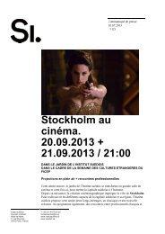 Cinéma en plein air Stockholm - l'Institut suédois à Paris - Svenska ...