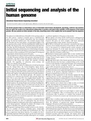 Initial sequencing and analysis of the human genome - Vitagenes