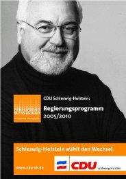 Das Wahlprogramm der CDU zum Download, 479 kB als pdf - Phoenix