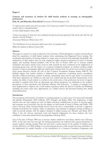 Contexts and Narratives of Attrition for Child Branch Students in ...