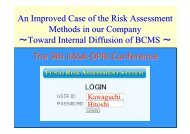 H. KAWAGUCHI An Improved Case of the Risk ... - NEXUS-IDRiM