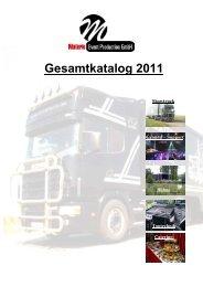 Gesamtkatalog 2011 - Materie Event Production GmbH