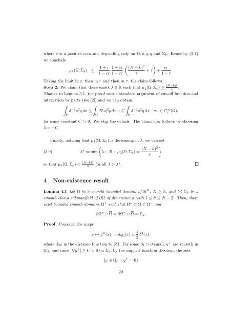 Weighted Hardy inequality with higher dimensional ... - CAPDE