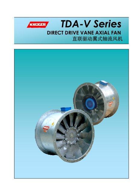 Direct Drive Vane Axial Fan – TDA-V Series - Kruger Ventilation