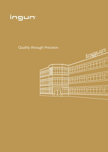"Image Brochure ""Quality through Precision"""