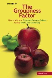 The Groupness Factor - Progress-U