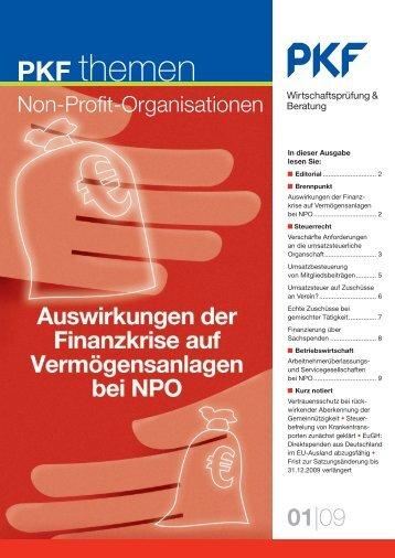 09 Auswirkungen der Finanzkrise auf Vermögensanlagen bei NPO