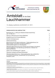 Die Seite des Bürgermeisters - Stadt Lauchhammer