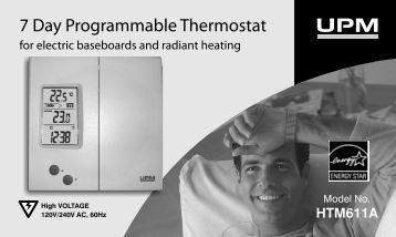 7 Day Programmable Thermostat - UPM Marketing