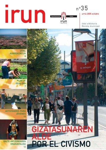 GIZATASUNAREN ALDE POR EL CIVISMO - Ayuntamiento de Irun